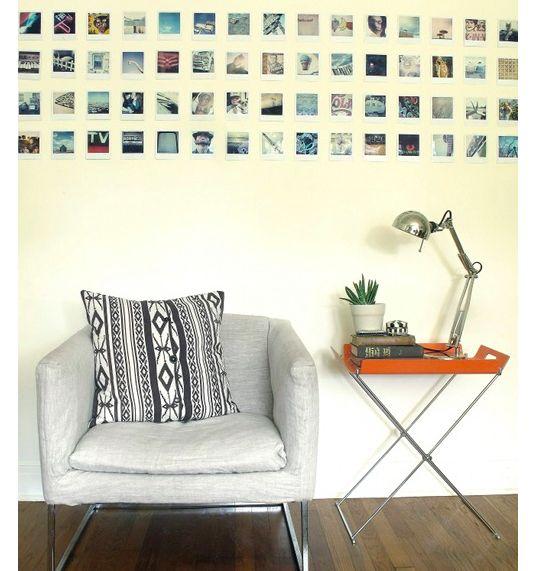 polaroid wall decoration living pinterest. Black Bedroom Furniture Sets. Home Design Ideas