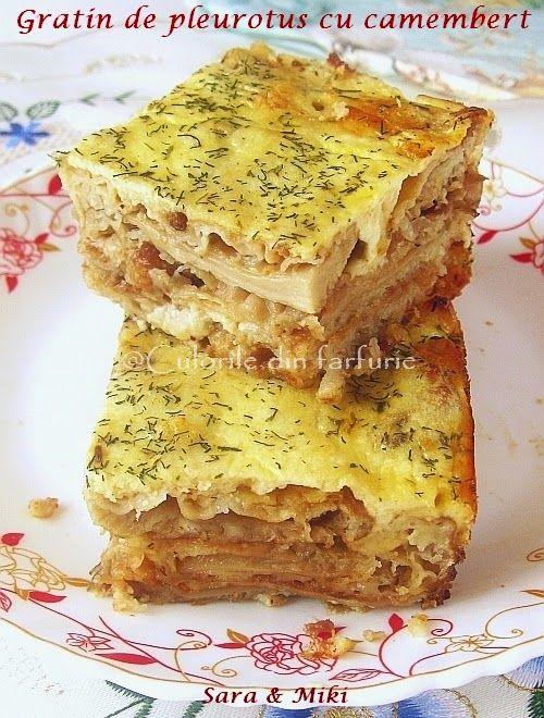 Gratin de pleurotus cu branza Camembert ~ Culorile din farfurie