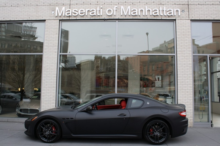 2012 Maserati Gt Mc Murdered Out Matte Black With The Red Interior Brakes Dream Garage