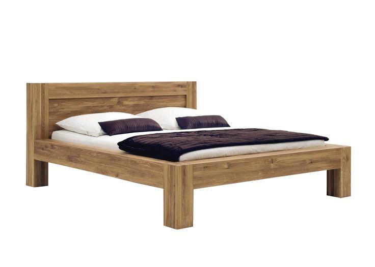SAM® Holzbett 200 x 200 cm massive Wildeiche BALDER Auf Lager ! - Produktfoto