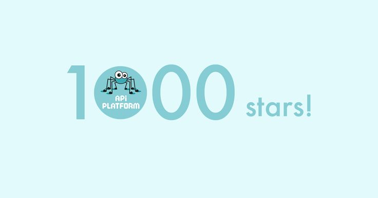 API Platform reached 1000 stars on Github!