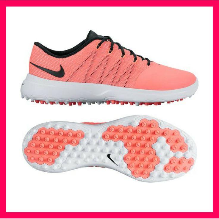 c1c2d97af0e26b CLEARANCE Nike Ladies Lunar Empress 2 Golf Shoes - Lava Glow Black White  (Medium Width)