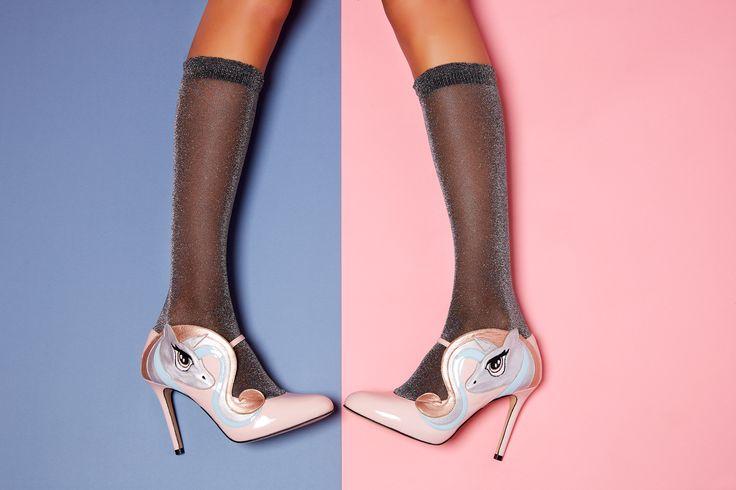 Stuff of daydreams, Celestia unicorn heels are pure magic. Minna Parikka Celestia in powder patent