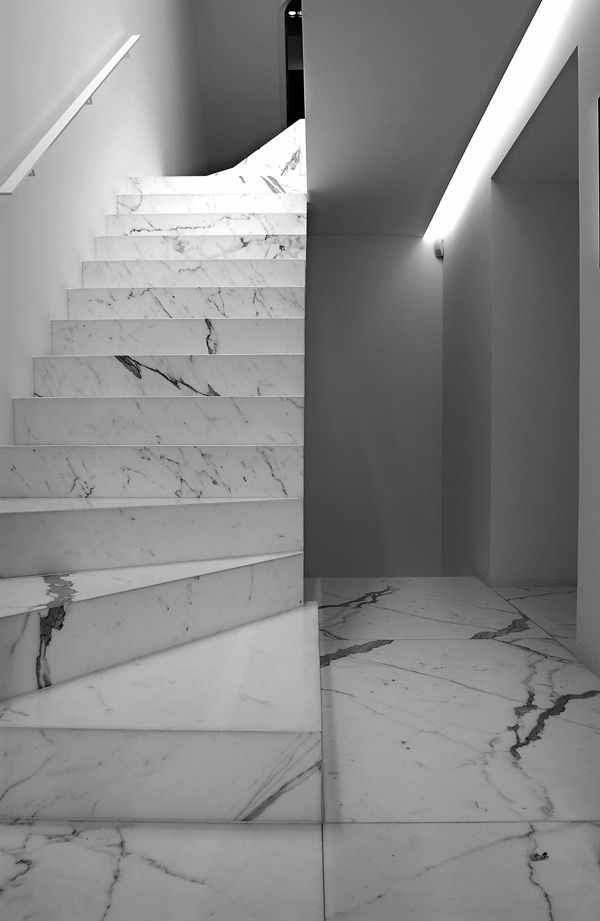 Marble staircase by Vincent Van Duysen.