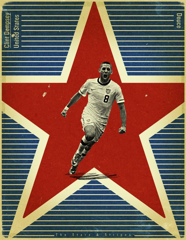 World Cup 2014 - Each Country's Fan Favourite by Jon Rogers, via Behance  #soccer #poster