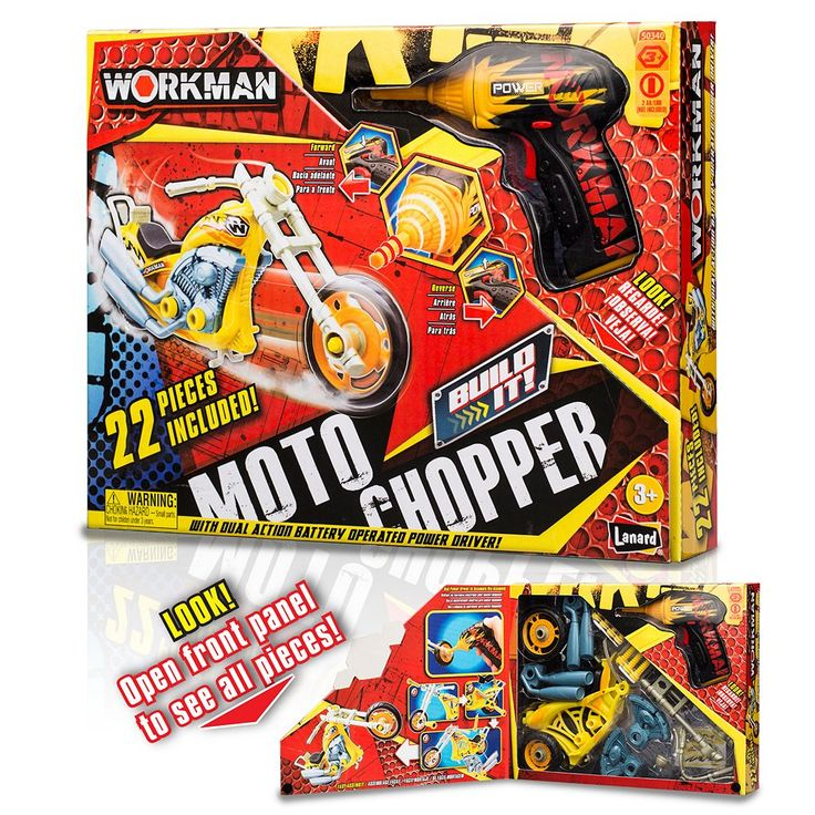 Workman Build Your Own Moto Chopper Kit by Lanard, Multicolor