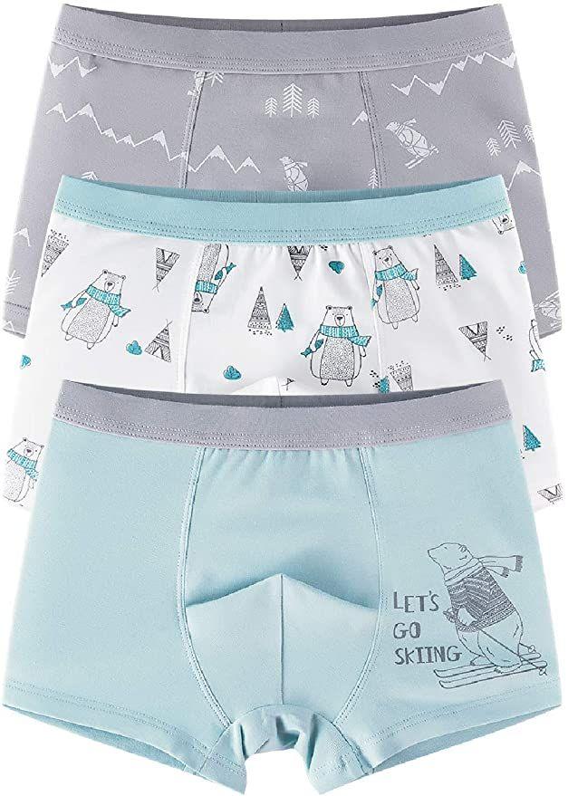 CC/&La Dame Underwear Boys Boxer Briefs Cotton Comfort Breathable Toddler Shorts Boxer for 3-10Y Multipack