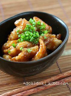 鶏皮おつまみ♡さっぱり甘酢焼き by ドキンたん [クックパッド] 簡単おいしいみんなのレシピが167万品