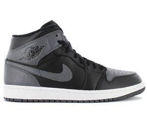 0296c4306bd a nike air jordan 1 mid zapatillas hombre negro de deporte baloncesto  554724 041