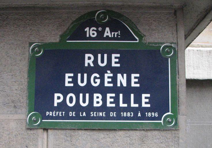 Rue Eugène Poubelle plaque - On 7 March 1884 Poubelle decreed that owners of…