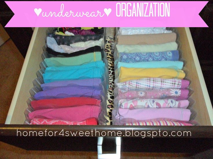 How To Use An Accordion Folder As Inexpensive Underwear Organization.  Underwear OrganizationCloset OrganizationOrganization IdeasDresser ...