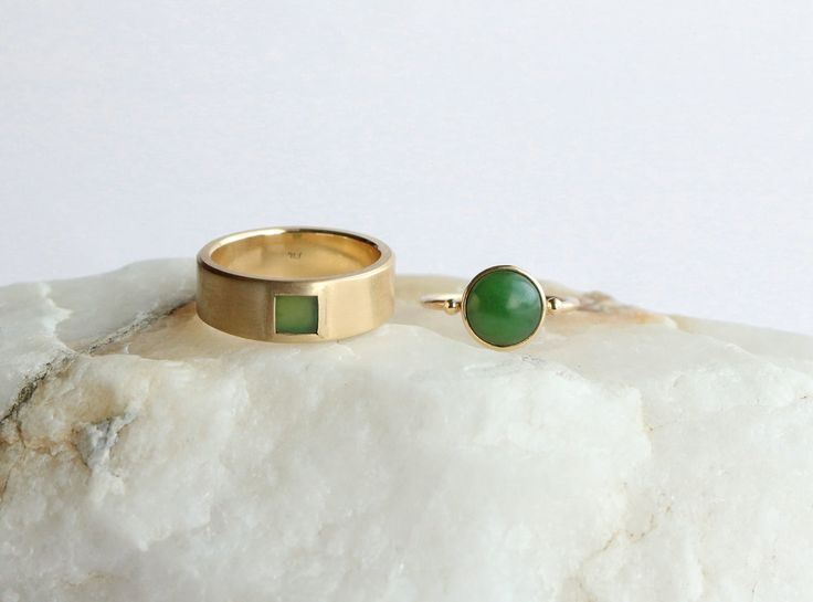 Pounamu Greenstone Wedding Rings by Marama Jewellery New Zealand