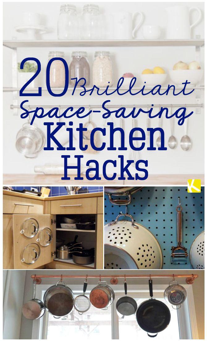 20 Brilliant Space-Saving Kitchen Hacks
