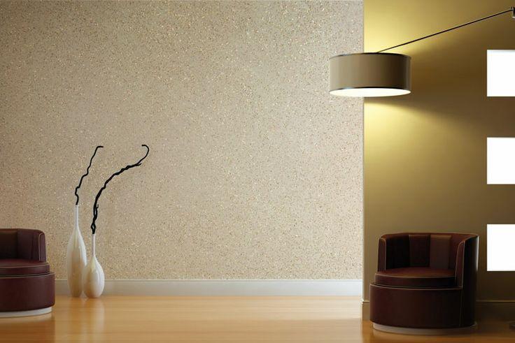 ... . Avorio e glitter sulle pareti. Per un aspetto chiaro e luminoso