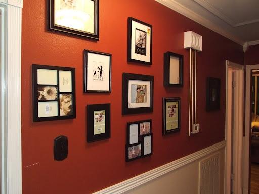 pictures in black frames