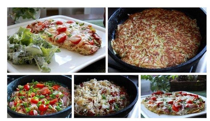 Placek ziemniaczany ala pizza