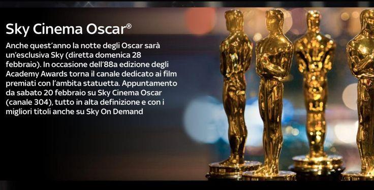 La notte degli Oscar 2016: come seguire l'evento degli Oscar 2016 in diretta tv su Sky Cinema Oscar e TV8 e in diretta streaming.