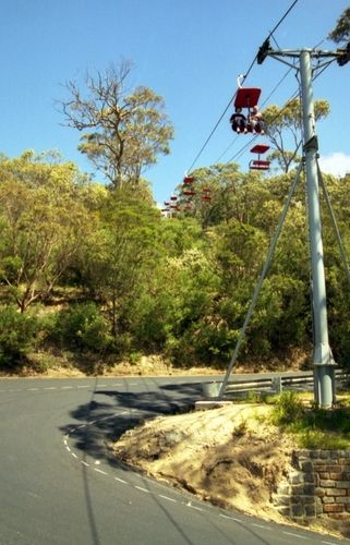 Arthurs Seat Chairlift - 1998. Opened Christmas in 1960 and closed in March 2004 after a couple of accidents