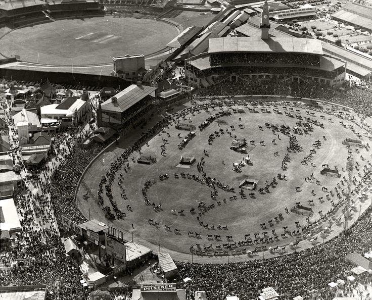 Sydney Showground - Grand Parade Easter -1936. Royal Australian Historical Society saved to Adastra Aerial Survey Collection