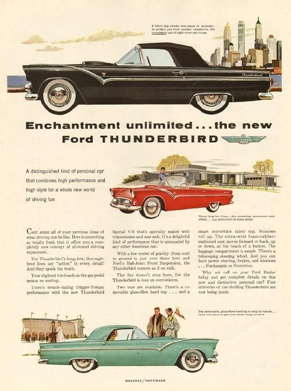 Enchantment Unlimited The New Ford Thunderbird 1954