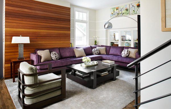 15 catchy living room designs with purple accent dark wood purple accents and living rooms