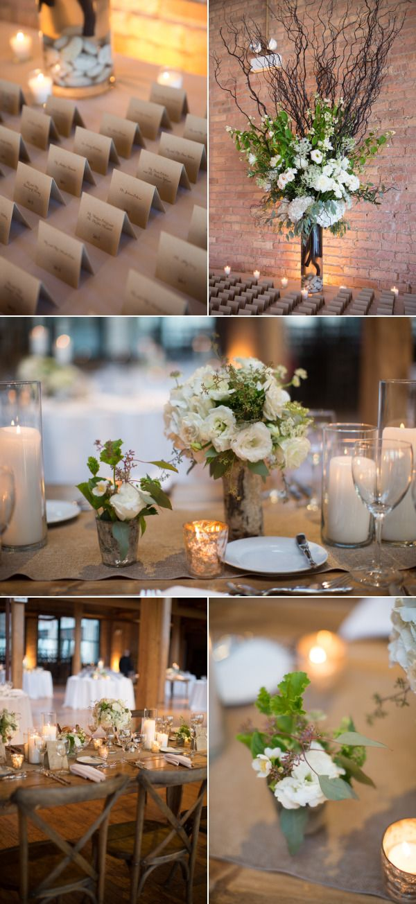 Rustic French Country Wedding in Chicago at Bridgeport Art Center Skyline Loft - Style Me Pretty