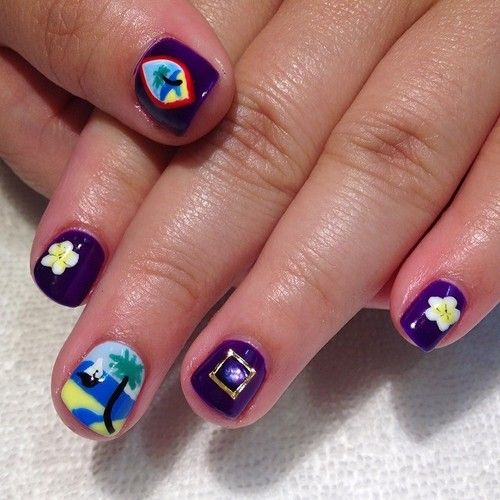 Pride Nail Designs: Guam Pride Nails For Jenna! #guam #nailart #nailswag