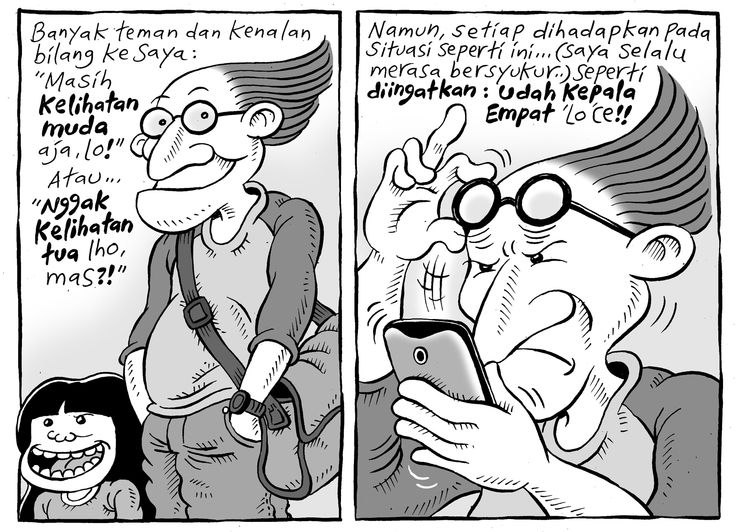 Mice Cartoon, Kompas Minggu - 12 April 2015: Udah Kepala Empat
