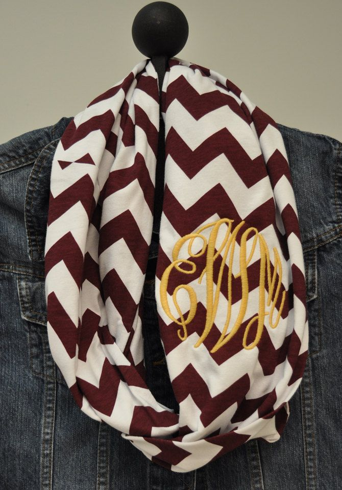 Florida State Seminoles Chevron Infinity Scarf in by ChickSprings, $28.00