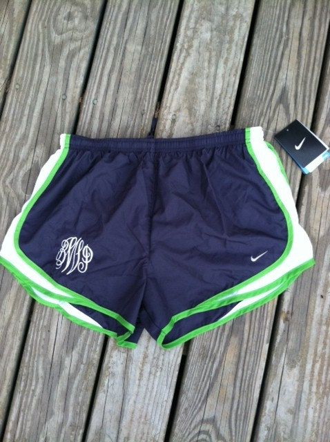 Custom Monogrammed Nike Running Shorts NWT. $48.99, via Etsy.    black and white.    Non-monogrammed is cool too. :)  I'd actually work out if I had these.