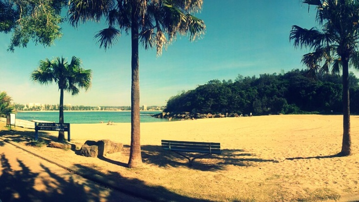 Shelly Beach In Manly... looks out onto another beach. And, there's pretty good snorkelling.