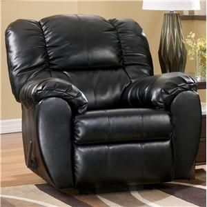 Signature Design by Ashley Furniture Dylan DuraBlend - Onyx Rocker Recliner - 7060425