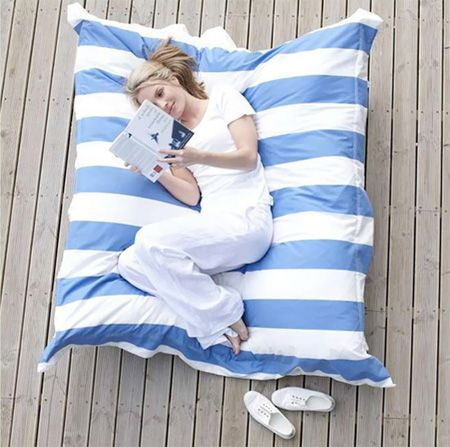 Giant Pillow -just looks so comfy: Dogs Beds, Outdoor Fabrics, Giant Pillows, Reading Nooks, Back Porches, Giant Cushions, Floors Pillows, Pillows Beds, Reading Wonder