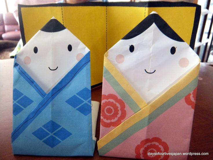 Easy #hinamatsuri Origami dolls for #girlsday in Japan, #dollsfestival