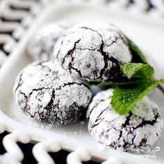 Печенье с мятой и темным шоколадом - пошаговый кулинарный рецепт с фото на Повар.ру