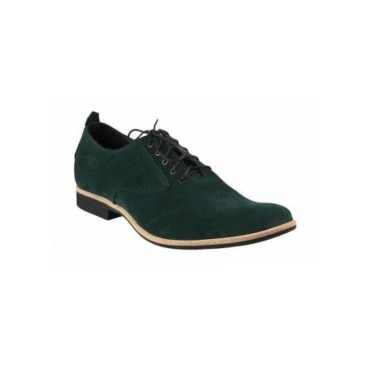 Pánske kožené topánky zelené - fashionday.eu