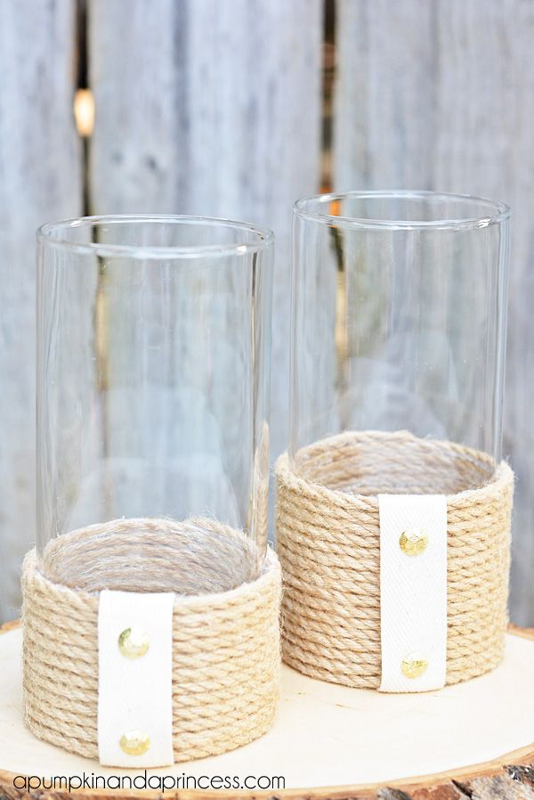 Rather than the white denim and studs I would leave plain or use a different fabric and embellishment  Nautical Inspired Sisal Rope Home Decor.