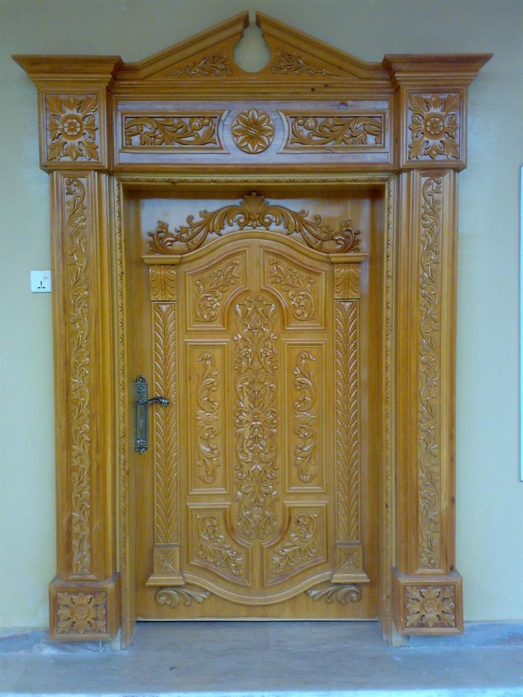 Wooden door design in pakistan doors carved doors for Wooden main doors design pictures