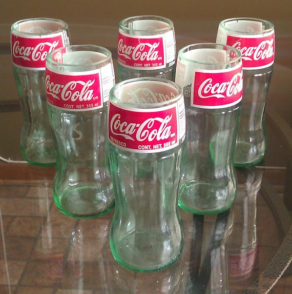 17 best images about coca cola glasses on pinterest for Make glasses out of bottles