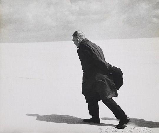 Jean-Paul Sartre by Antanas Sutkus, 1965