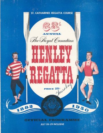 1950 - the Royal Canadian Henley Regatta Databases