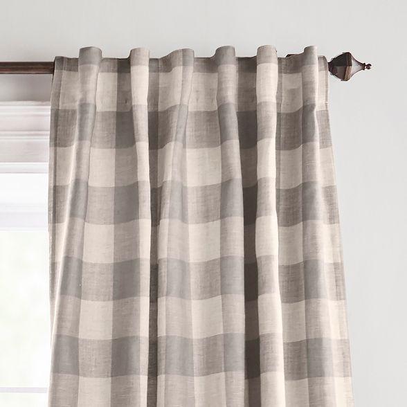 Grainger Buffalo Check Blackout Window Curtain Panel 52 X 95