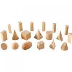 Wood Geomtric Solids - Advanced Geometric Set