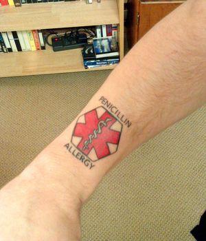medic alert tattoo - Bing Images.                    Maybe I just need a tattoo!