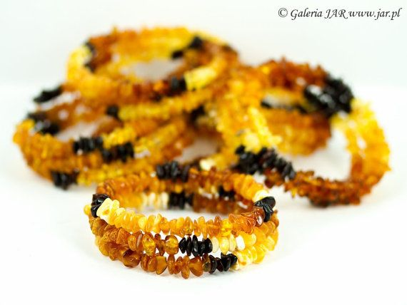Genuine Baltic Amber and Memory Wire Handmade Bracelet Unique Exclusive Elegant Cute Charming Lovely Trendy Fashion Oryginal BIZ1057