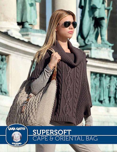 SuperSoft - Cape & Oriental Bag pattern by Lana Gatto