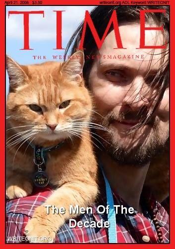 Bob and James on the cover of Time magazine.  (USA)