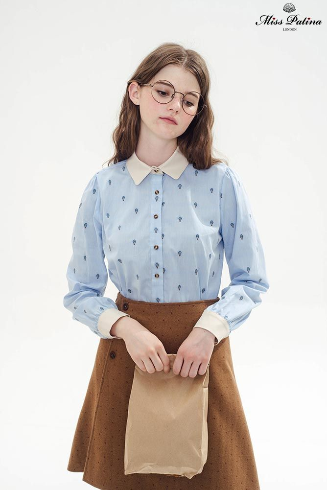 Aviator Shirt (Hot-air Balloon) - Miss Patina - Vintage Inspired Fashion