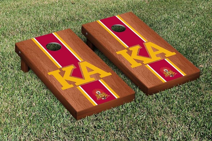 Kappa Alpha Order Stained Cornhole Game Set