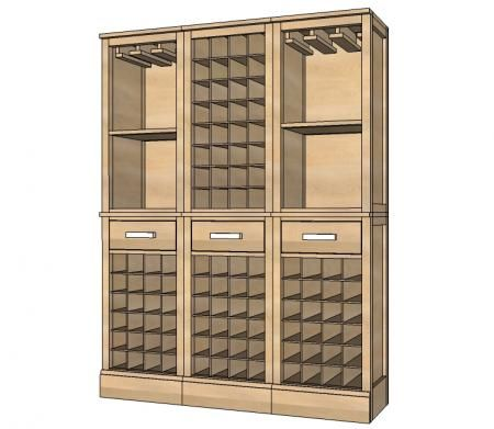 I want to make this!  DIY Furniture Plan from Ana-White.com  How to build wine grid hutch inspired by Pottery Barn Modular Build Your Own Bar.
